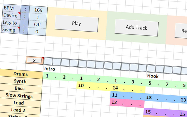 Now you can make music on Excel like on professional music software
