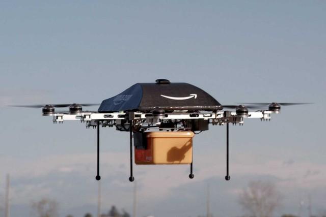 Trực thăng không người lái dùng để giao hàng của Amazon.
