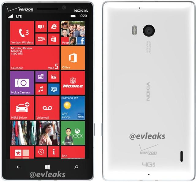 Hình ảnh về Lumia 929, bản mini của Lumia 1520.