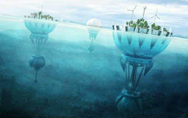 Những thành phố nổi trên mặt nước sẽ giải quyết nạn thiếu không gian cho con người