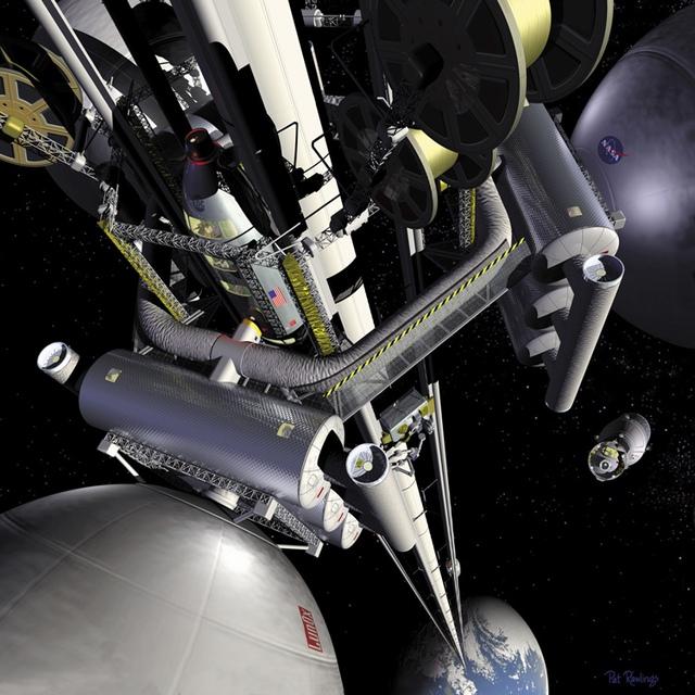 Bằng thang máy vũ trụ, bạn có thể du hành không gian dễ dàng và tiết kiệm hơn.