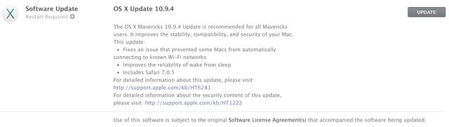 Apple phát hành iOS 7.1.2 và OS X 10.9.4 khắc phục một vài lỗi nhỏ