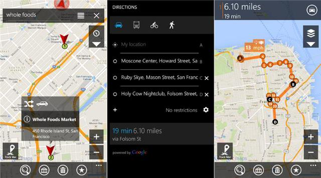 gMaps for Windows Phone