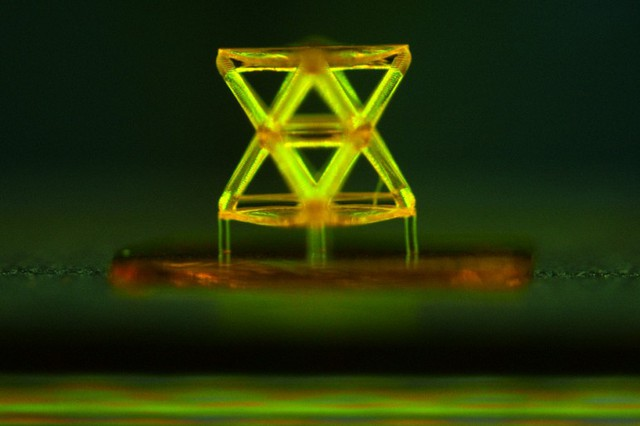 Microscope image showing a single unit of the structure developed by the team, made from a...
