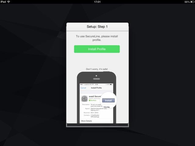 Bước 1: bấm Install Profile
