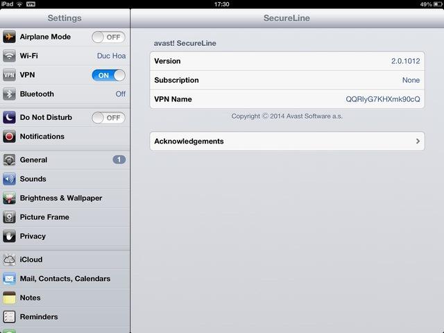 Bước 2: kích hoạt VPN