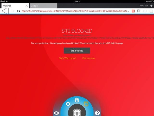 Norton IDSafe đã chặn một trang web không an toàn.
