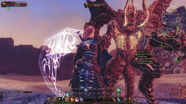 Ảnh gameplay của Archlord II do game thủ Việt chụp lại.