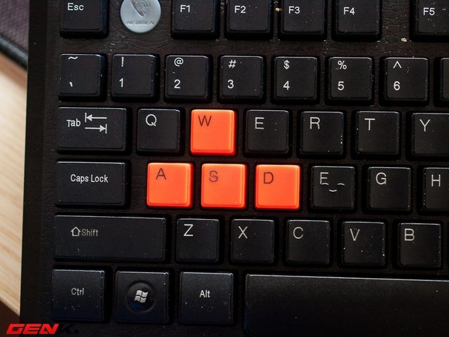 4 phím WSAD cũng được sơn màu tương tự