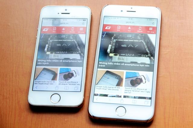 Màn hình lớn hơn không giúp iPhone 6 hiển thị được nhiều nội dung hơn, nhưng khiến nội dung hiển thị to, rõ ràng, những thao tác đòi hỏi chính xác như bấm vào link nhỏ, gõ bàn phím cũng dễ chịu và dễ... đúng hơn trên màn hình lớn. Vì vậy xin chia buồn với fan của MU vì iPhone 6 cũng không giúp họ nhìn được vị trí đội bóng mình yêu thích trên bản tổng sắp. (Nhưng iPhone 6 Plus lại khác).
