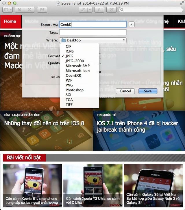 Cách chuyển đổi định dạng hình ảnh đơn giản trên OS X