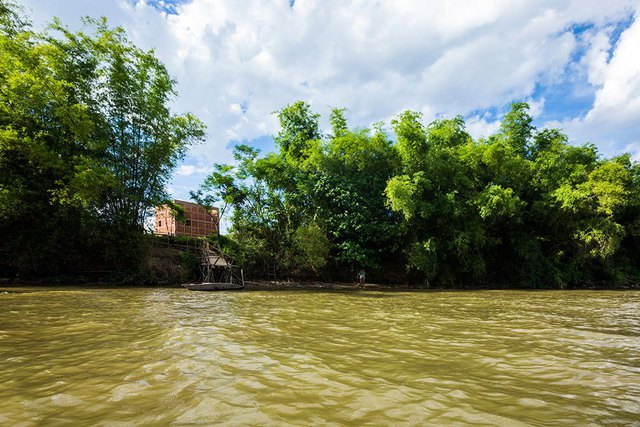 Ngôi nhà với góc nhìn từ sông Thu Bồn