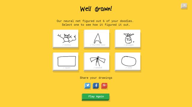 Dù vẽ hơi xấu nhưng Google vẫn nhìn ra được người chơi đã vẽ gì.