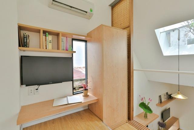 Gác xép áp mái dùng làm phòng ngủ cho con nhỏ