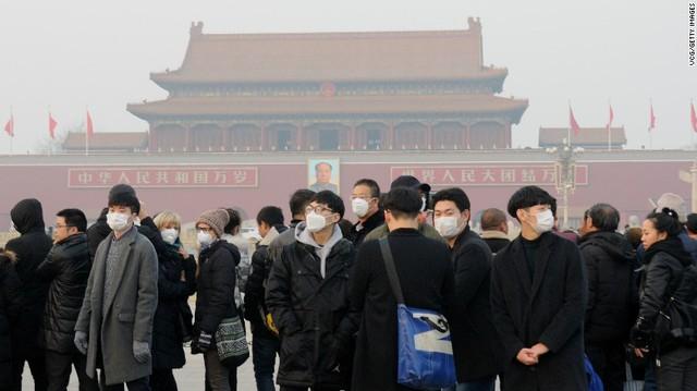 Cuối năm, nhưng Trung Quốc lần đầu tiên phải báo động đỏ ô nhiễm không khí tại 23 thành phố