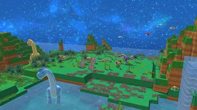 Đồ họa đơn giản của Birthdays the Beginning gợi liên tưởng ngay tới Minecraft.