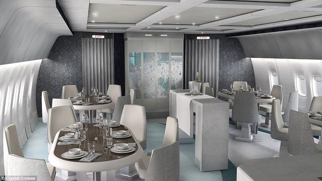 Đây là nội thất của cái gọi là dịch vụ thương mại hàng không sang trọng bậc nhất.