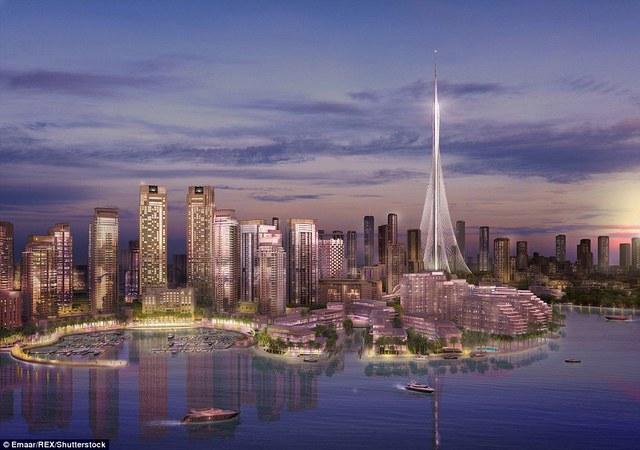 Chi phí xây dựng công trình The Tower tại cảng Dubai Creek sẽ tốn khoảng 1 tỉ USD. Bạn có thể nhìn toàn cảnh từ trên tòa tháp này.