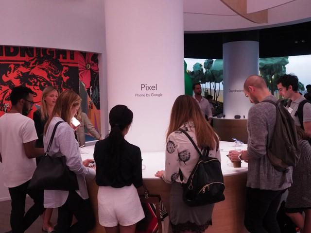 Smartphone Pixel có một khu vực riêng để trưng bày và trải nghiệm.