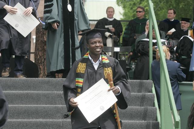 Kamkwamba đã hoàn thành việc học, tốt nghiệp Đại học Dartmouth tại New Hampshire.