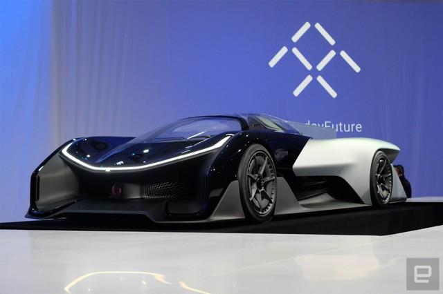 Chiếc xe mẫu của Faraday Future.