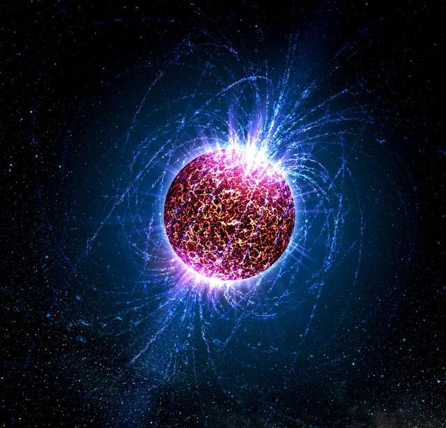 Hình minh họa cho một ngôi sao neutron.