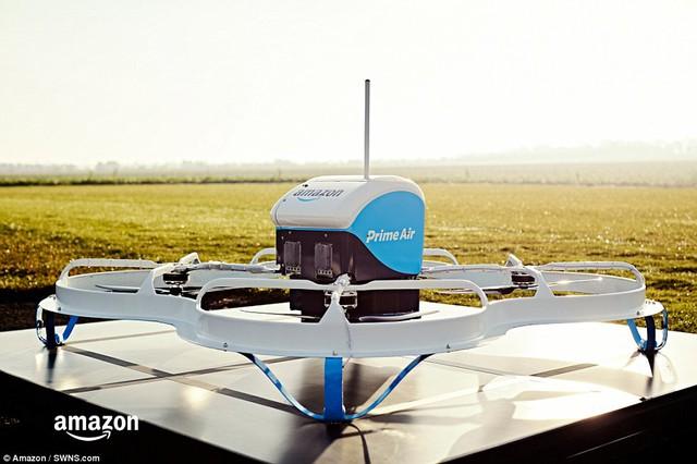 Thiết bị drone được Amazon sử dụng cho dịch vụ giao hàng Prime Air