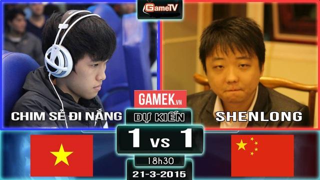 Chim Sẻ vs Shenlong, cuộc đối đầu luôn được chờ đợi nhiều nhất trong các giải đấu AOE Việt Trung.