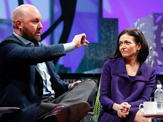 Marc Andreessen và Sheryl Sanberg