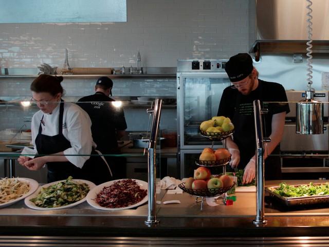 Đây là một vài nét giới thiệu về nơi phục vụ ăn uống tại trụ sở của Google tại Washington.