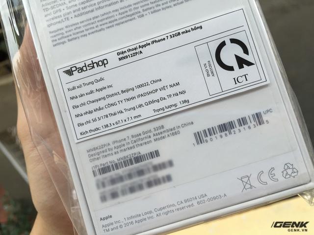 Máy có mã ZP/A, do Công ty TNHH iPad Shop Việt Nam nhập khẩu