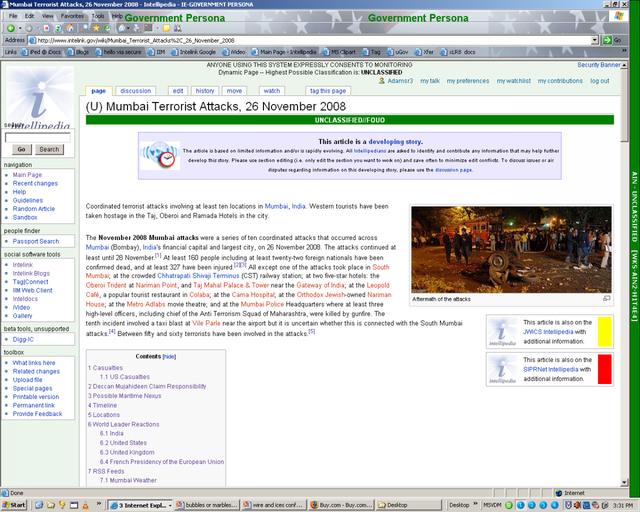 Trên trang Wikipedia thực sự, một số người dùng đã đăng tải vài ảnh chụp màn hình không bị cấm về hệ thống này. Từ các hình ảnh đó, trông nó có vẻ gần giống với trang Wikipedia thực, sự khác biệt lớn nhất nằm ở các thanh kẻ ngang lớn với các màu sắc khác nhau cho thấy phân loại của bài viết.