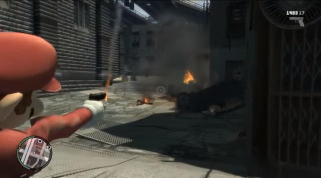 Mod đưa Mario vào GTA IV.