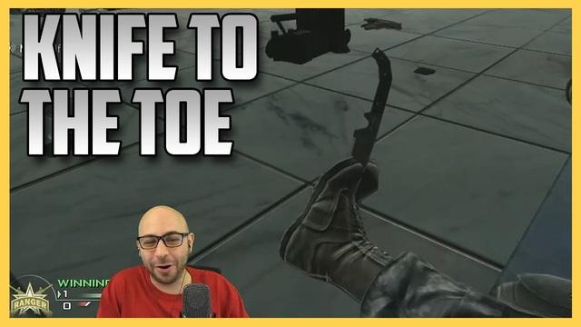 Thường thì nhân vật Call of Duty có thể chịu được 5 viên đạn vào ngực, nhưng một con dao vào chân thì không.