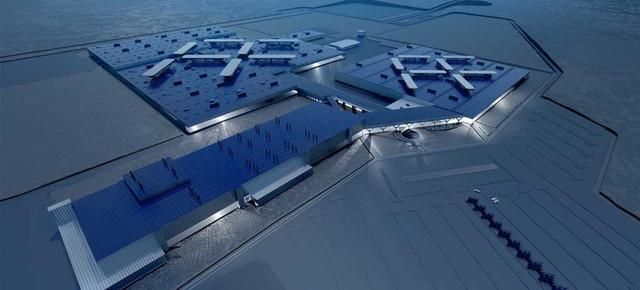 Mô hình thiết kế nhà máy của Faraday Future.