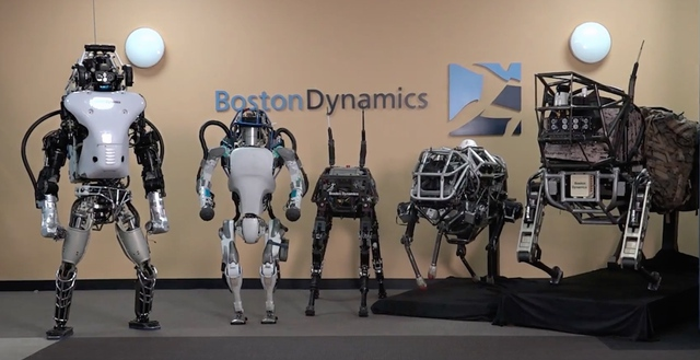Các robot từ Boston Dynamic.