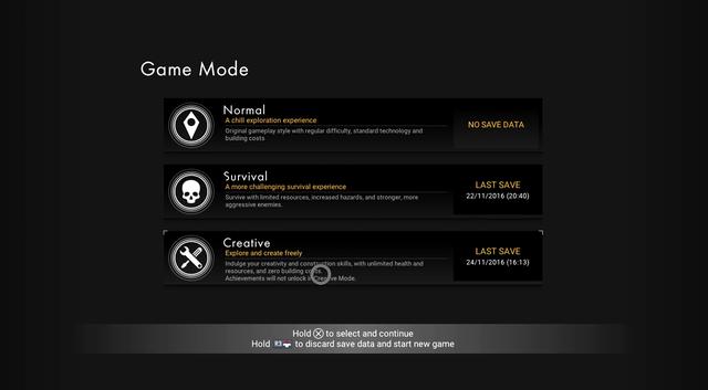 Chế độ Survival mới bên cạnh hai kiểu chơi cũ.