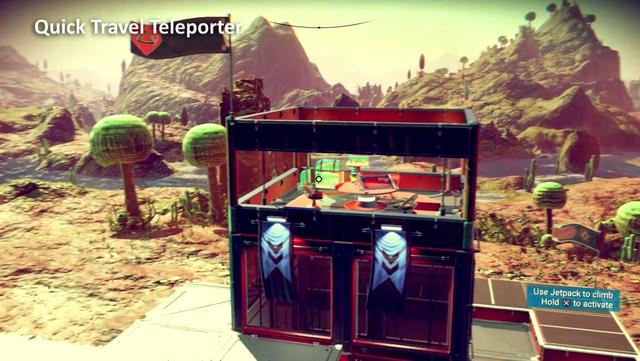 Di chuyển nhanh qua các hành tinh bằng trạm teleport.