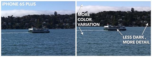 Camera iPhone 7 hiển thị nhiều chi tiết hơn.