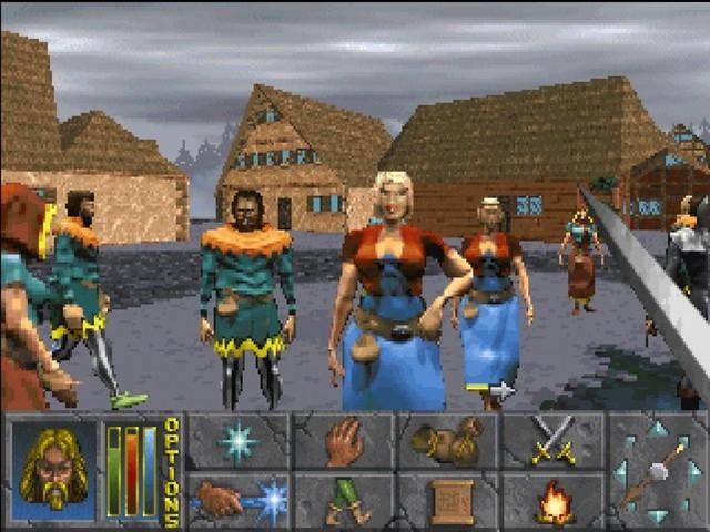 Một hình ảnh của The Elder Scrolls II: Daggerfall (1996).