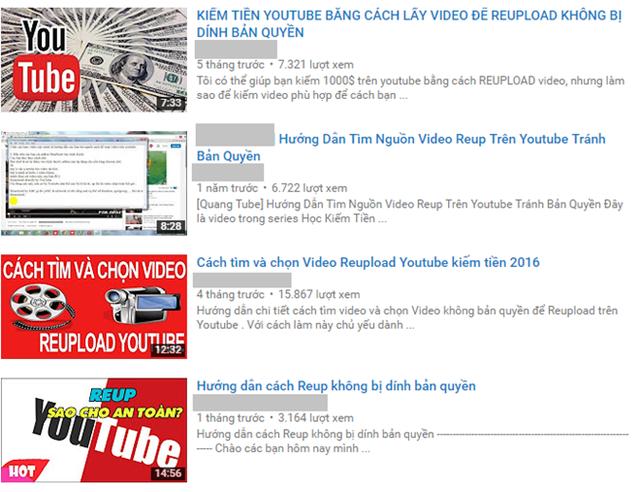 Chuyện reup video đã trở thành vấn nạn, thậm chí có nhiều bài chia sẻ cách lách luật để tránh bản quyền. Ảnh chụp màn hình.