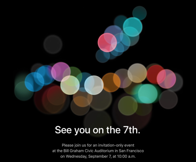 Thư mời sự kiện iPhone 7 được Apple gửi vào cuối tháng 8