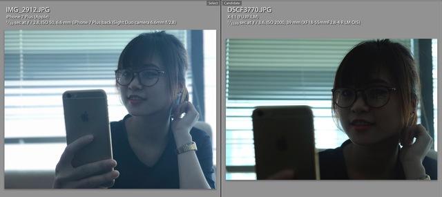 Một số hình ảnh so sánh khả năng chụp ảnh xóa phông của iPhone 7 Plus và Fujifilm X-E1