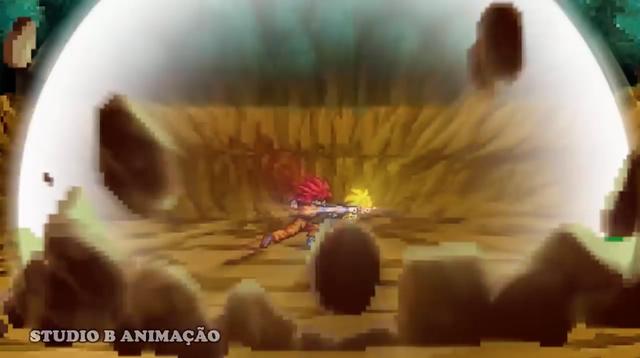 Son Goku tóc đỏ rất bá.