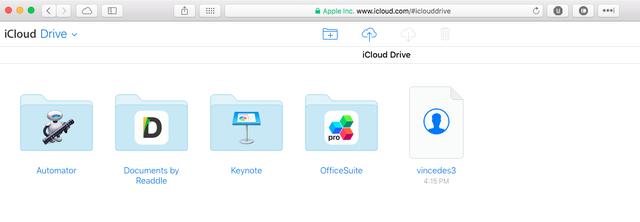 Tải file vincedes3.vcf lên iCloud Drive