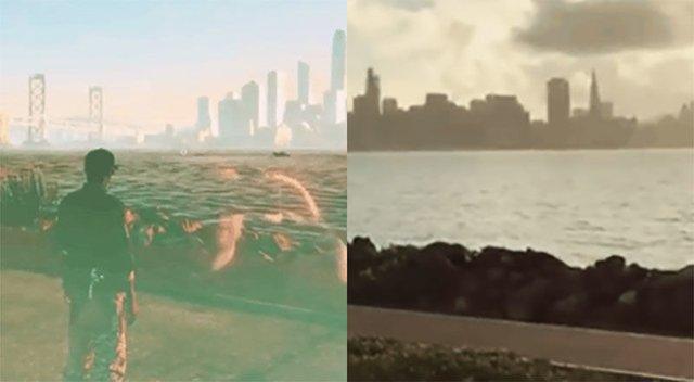 Sự giống nhau đến kinh ngạc giữa thành phố trong Watch Dogs và San Francisco ngoài đời.