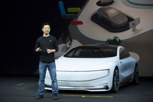 Chiếc LeSee trong buổi ra mắt ở Bắc Kinh.