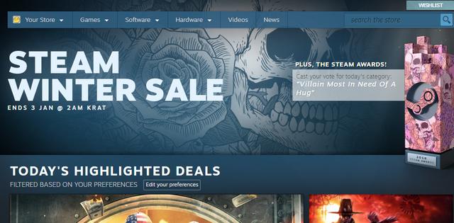 Mùa giảm giá Steam Winter Sale đã chính thức bắt đầu.