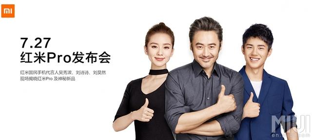 Lưu Thi Thi, Ngô Tú Ba và Lưu Hạo Nhiên là ba nhân vật nổi tiếng được Xiaomi lựa chọn để quảng cáo cho Redmi Pro tại Trung Quốc. Nhưng rồi nó cũng chẳng giúp do doanh số của chiếc máy này khá khẩm hơn được bao nhiêu.