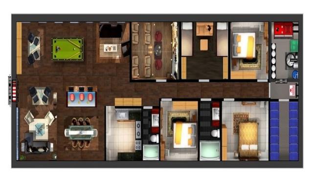 Họ cũng có thể lựa chọn vật dụng trang trí, nội thất hạng sang cho căn hầm